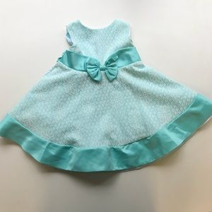 Rare Editions Turquoise Lace Dress